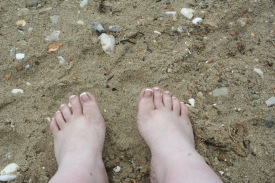 I did get to put my feet in the sand this summer after all!